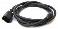 IEC Kupplungsbuchse mit Kabel 2 Meter