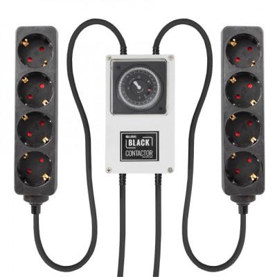 Lumii Black Zeitschaltuhr mit Relais 2x 1,8KW